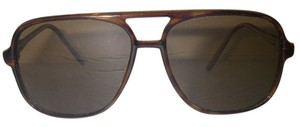 Other Aviator Sunglasses Vintage Tortoise Frame HQ Polarized Glass Brown Amber Lens Korea