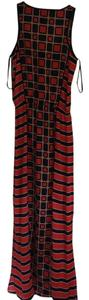 Geometric (red and navy) Maxi Dress by Michael by Michael Kors