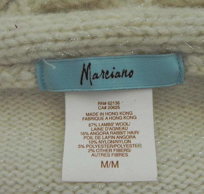 Marciano Wool Blend Hand Wash Double Zip Silver Sparkle Cardigan