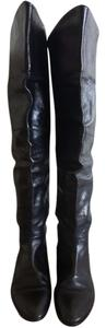 Candela Vero Cuoio Tall Leather Black Boots