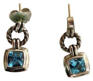David Yurman David Yurman Blue Topaz Renaissance Drop Earrings