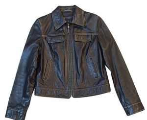 Kenneth Cole Reaction Leather Leather black Leather Jacket