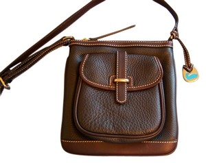 Dooney & Bourke Letter Carrier Pebble Leather Cross Body Bag