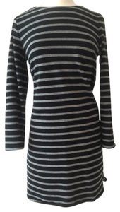 Merona short dress Black and charcoal stripe on Tradesy