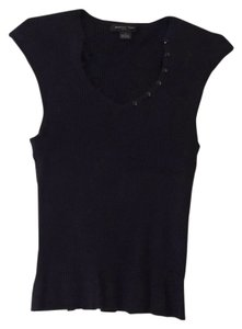 August Silk Top Black