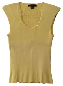 August Silk Top Yellow