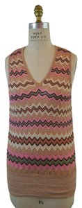 M Missoni Knit Top Zig Zag Stripe
