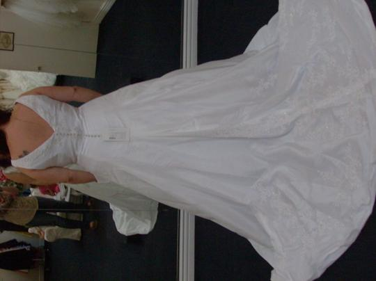 Jasmine Couture Bridal White Taffeta F912 Traditional Wedding Dress Size 18 (XL, Plus 0x)