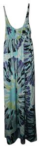 BCBGeneration Floral Tie-dye Silk Empire Maxi Dress