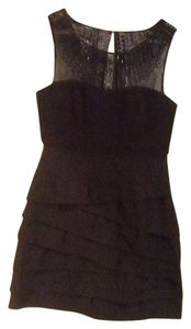 BCBGMAXAZRIA Beaded Mesh Dress