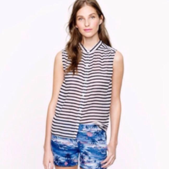 J.Crew Top Navy blue and white