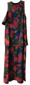 Floral Maxi Dress by Casper and Pearl Sheer Full Length Layered Exclusive Print