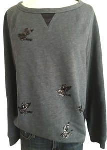 Leifsdottir Sequin Bird Satin Sweatshirt