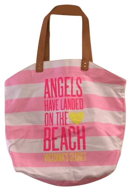 Item - Pink and White Stripe Beach Bag
