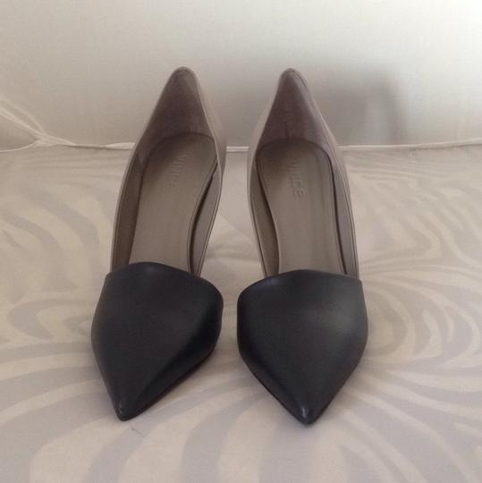 Vince Veryvince Pointytoe Heel Fall Winter Holiday Holiday Black and Clay Pumps