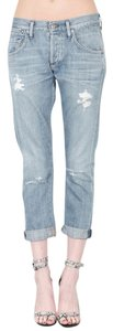Citizens of Humanity Distressed Boyfriend Cut Jeans-Distressed