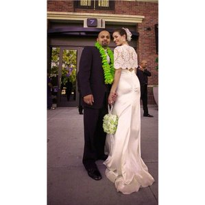 Azadeh- Silk Cowel Front Gown Wedding Dress