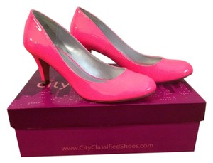 Classified Faux Leather Hot Pink Neon Pumps