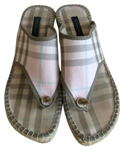 Burberry Pink Burberry Plaid Wedges