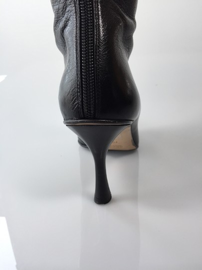Gucci Leather Logo Black Boots