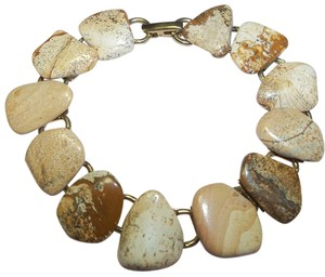 Other Bracelet, Natural Gemstones, Large Link, Locking Clasp