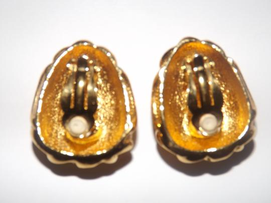 Jose & Maria Barrera Jose Maria Barrera for Avon Venetian Mist Clip Goldtone Earrings