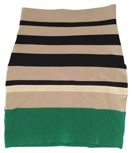 Express Striped Bandage Pencil Skirt Multi