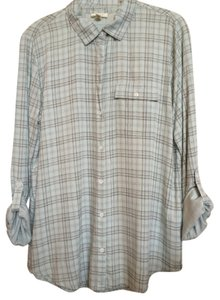 Joie Button Down Shirt Mint