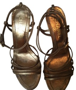 Chanel Msexy Mgold Pumps Mstrappy Bronze Sandals