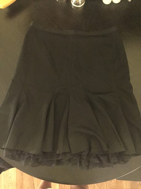 The Limited Lace Trim Office Skirt Black