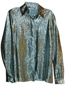 Chloé Unique Metallic Disco Top Silver