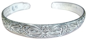 Bracelet, Silver Antiqued Finish, Embossed Design, Cuff Style