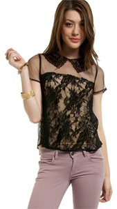 Tobi Lace Top Black