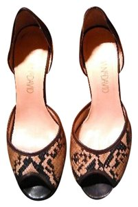 Joan & David Heels & Peep Toe Sandals Snakeskin Wedges