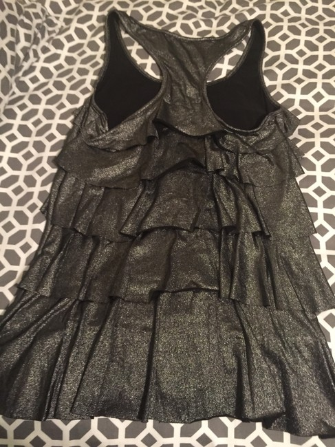 Forever 21 Tiered Racer-back Top Metallic