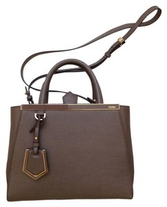 Fendi Petite 2jours Beige Celebrity Cross Body Bag