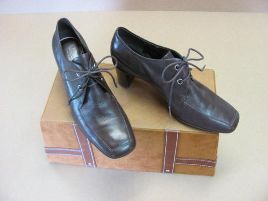 Rockport Size 5.50 M Leather Very Good Condition Brown Boots