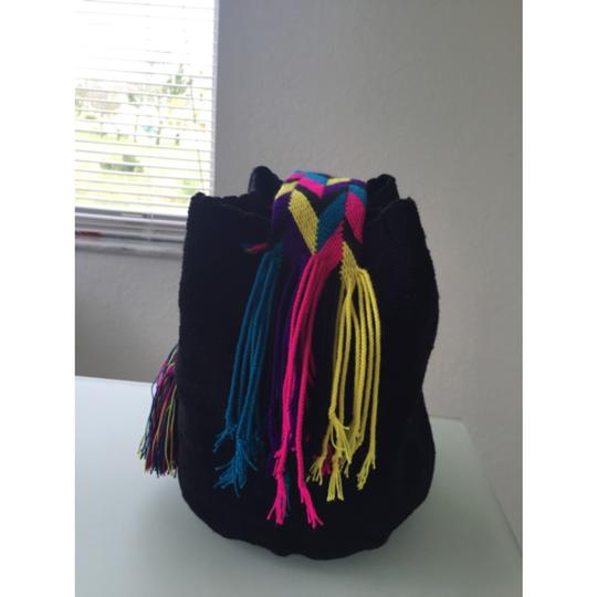 Wayuu Tribe Black And Multicolor Messenger Bag