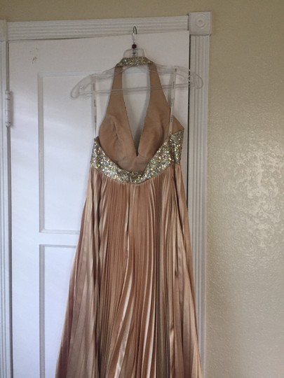 Terani Couture Gold Formal Bridesmaid/Mob Dress Size 2 (XS)