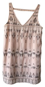 Free People short dress Light Pink Beaded Bohemian on Tradesy