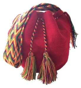 Wayuu Tribe Red And Multicolor Messenger Bag