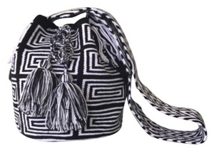 Wayuu Tribe White And Black Messenger Bag