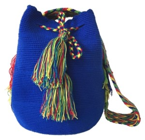 Wayuu Tribe Blue And Multicolor Messenger Bag