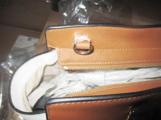 Michael Kors Satchel in Luggage / White / Black