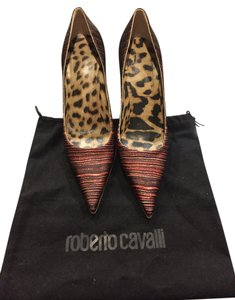Roberto Cavalli Brown peach Pumps