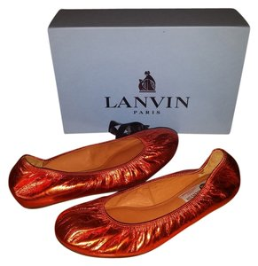 Lanvin Metallic Orange Flats