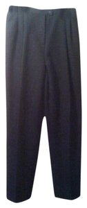 Worthington Pleated Trousers Trouser Pants Black and White Pinstriped
