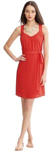 Banana Republic short dress Coral Summer Scoop Neck Tie Belt Pockets Lightweight on Tradesy