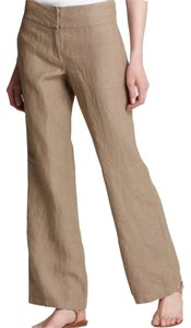 Eileen Fisher Trouser Pants Brown Khaki Trouser/Wide Leg Jeans-Light Wash