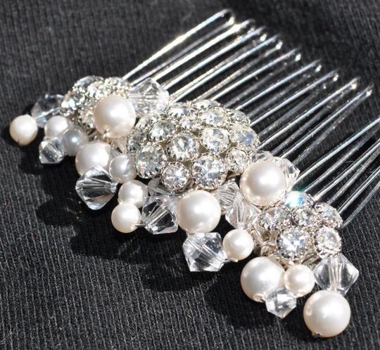 Preload https://item5.tradesy.com/images/-comb-with-rhinestones-crystals-and-pe-hair-accessory-56594-0-0.jpg?width=440&height=440